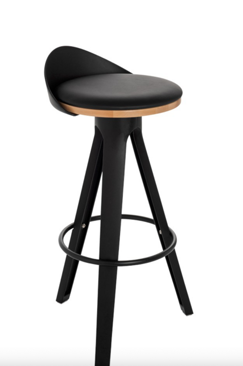 Pack 2 cadeiras bar Pp preto