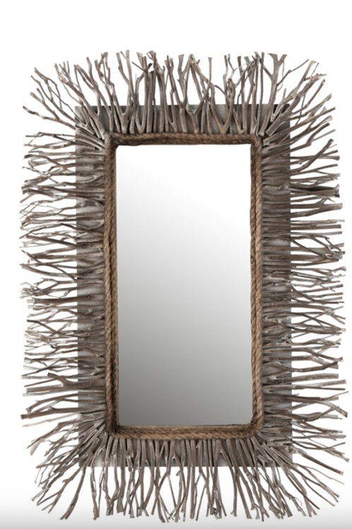 Espelho com madeira