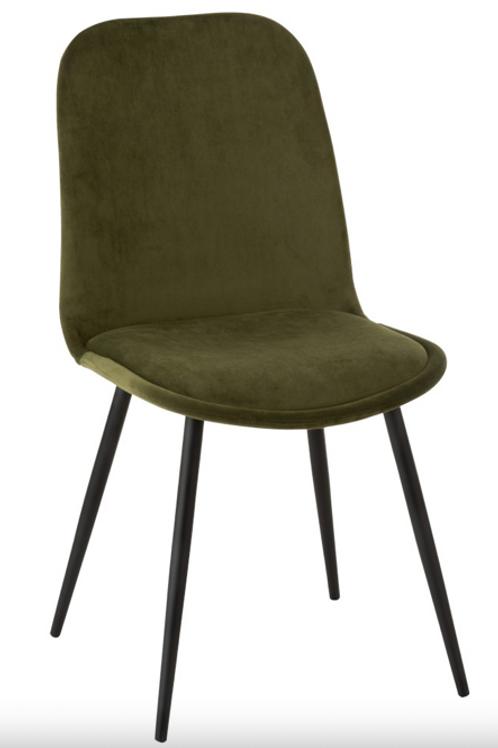 Pack 2 cadeiras pé metálico e tecido