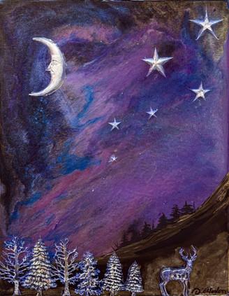 Illuminating Quarter moon