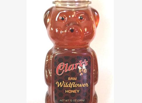 1 CASE 12 oz. WILDFLOWER HONEY Squeeze Bears
