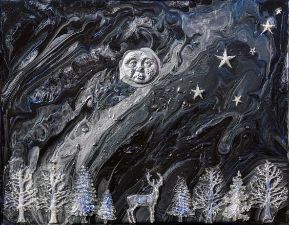 Illuminating Blue moon