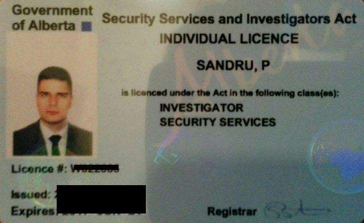 Alberta PI license