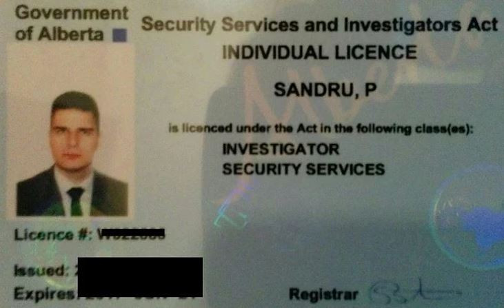 AB security guard license