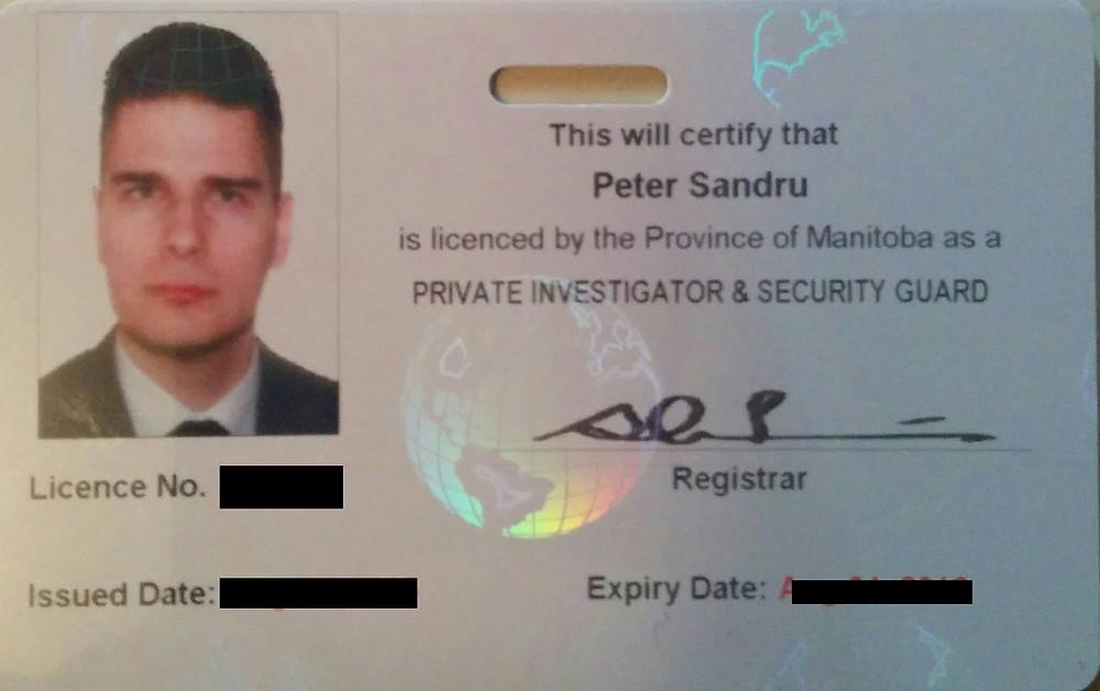 Manitoba Private Investigator License