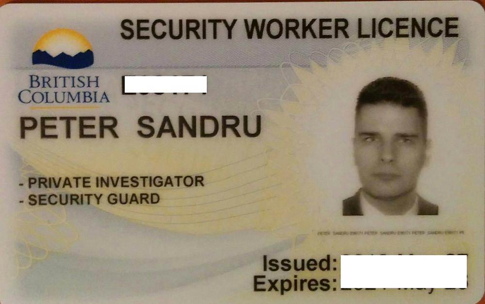 British Columbia Private Investigator License