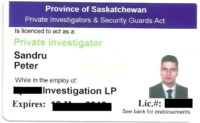 Saskatchewan Private Investigator License