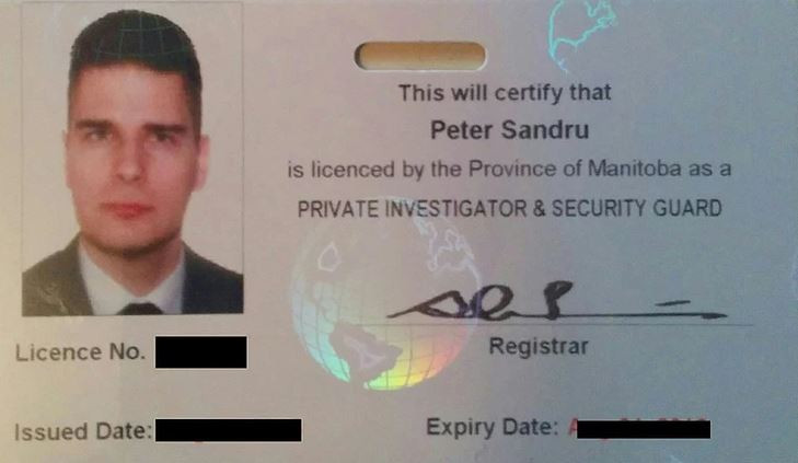 Manitoba PI license