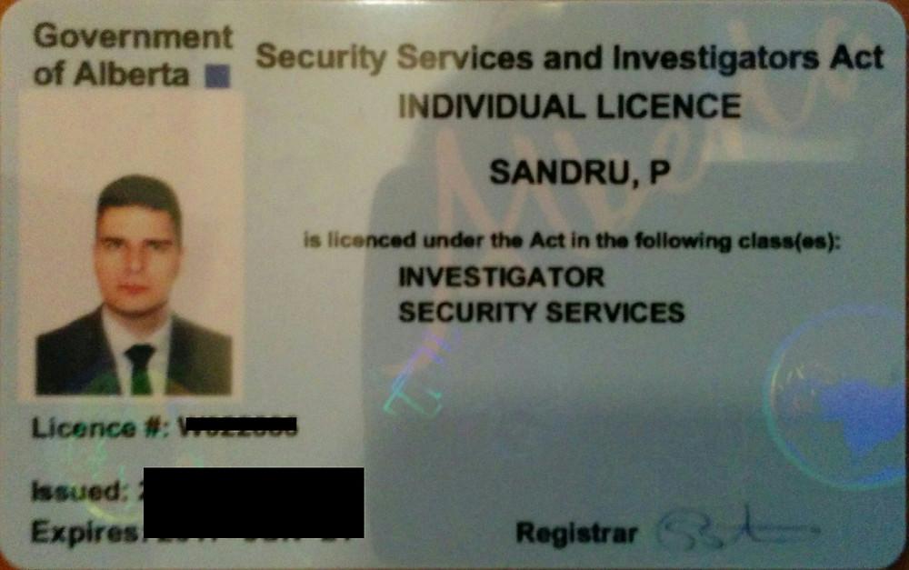 Alberta Private Investigator License