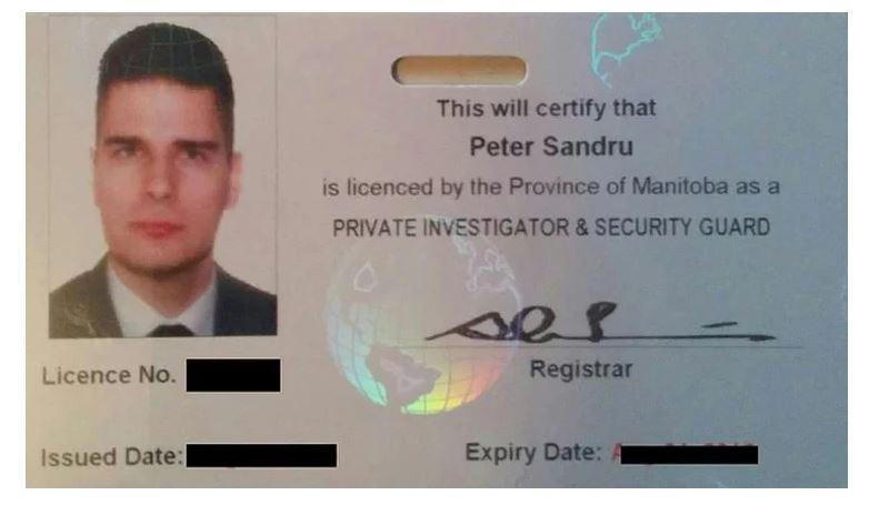 Manitoba security license