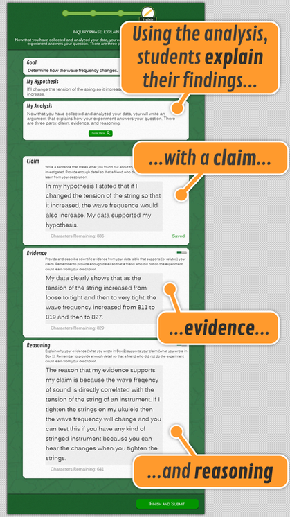 Inquiry Phase: Explain Findings