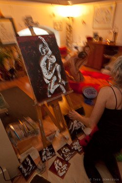 Live Painting with models