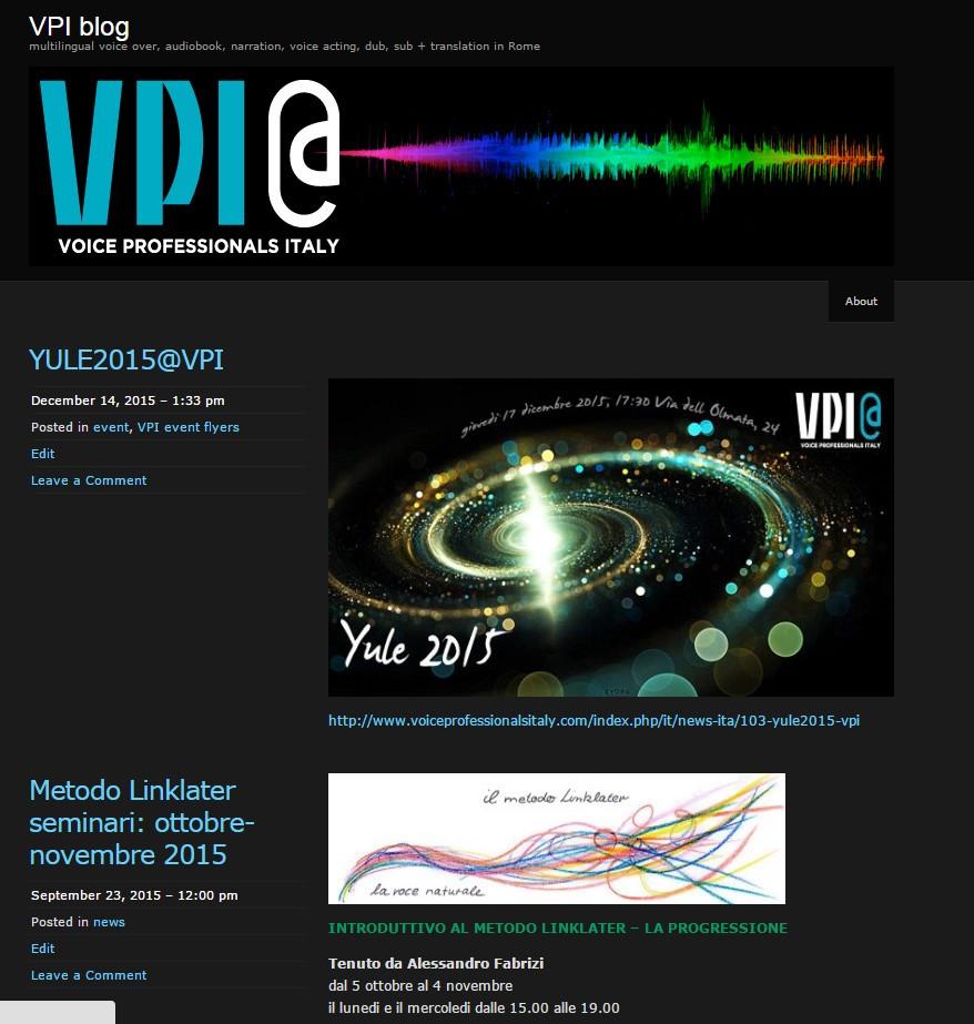 vecchio Newsblog VPI, ciao! old VPI newsblog, bye-bye!