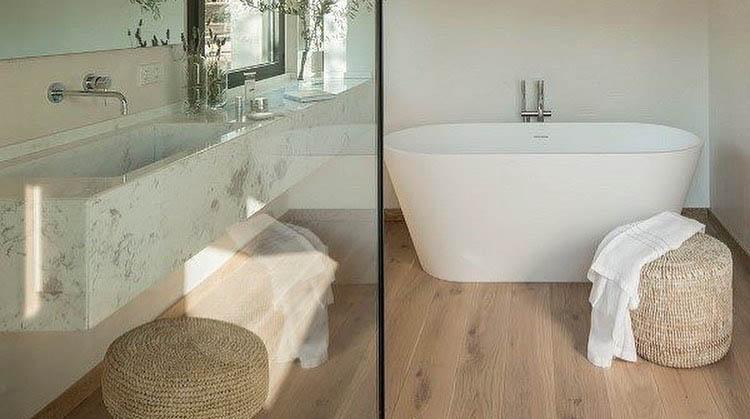 can i install hardwood floors in the bathroom