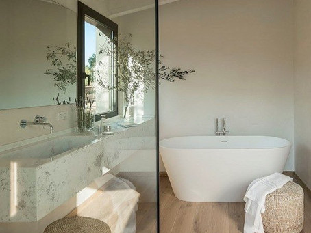 Using French Oak Hardwood in the bathroom