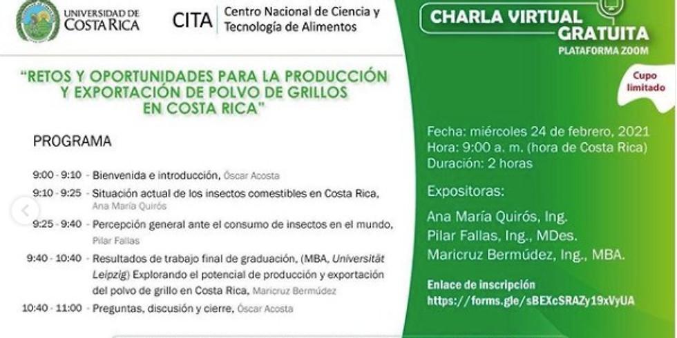 """""""Explorando el potencial de producción y exportación de polvo de grillos en Costa Rica""""."""
