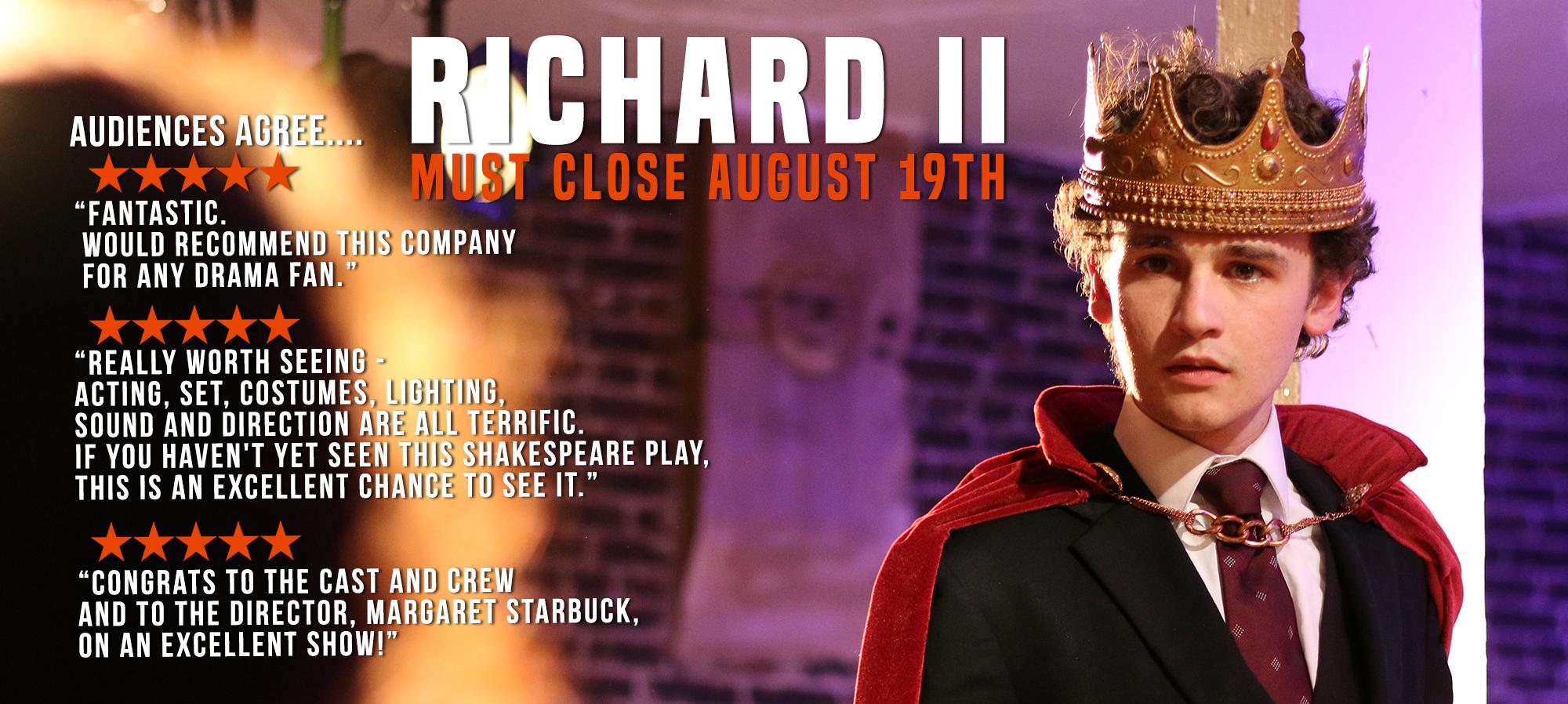 richard ii opening reviews for website banner