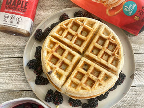 Berry Syrup Protein Waffles