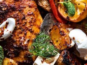 Greek Chicken Souvlaki Skillet