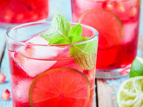 Sparkling Pomegranate Limeade