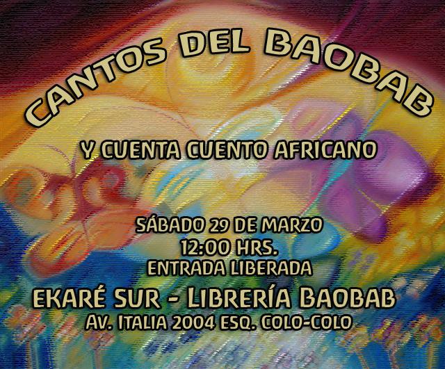 Flyer Librería Baobab 2014