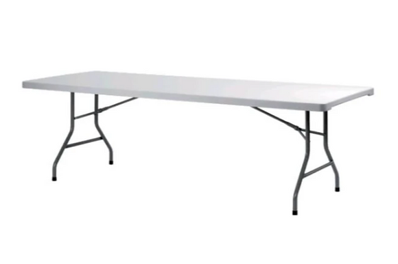 """Table, 8' Rectangle WIDE Plastic (36""""x96"""") $10.50"""