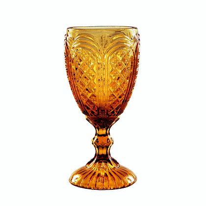 Goblet, Carousel Amber