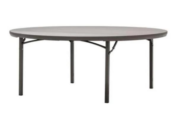"""Table, 6' Round Plastic (72"""" diameter), $14.75 each"""