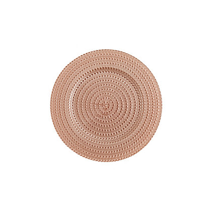 Charger Plate, Blush Beaded $3.15 each