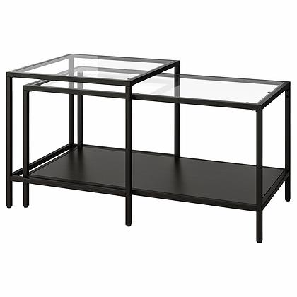 Nesting Tables, Black/Glass, $42.40 per set