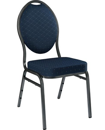 Chair, Banquet Stacking Blue Fabric