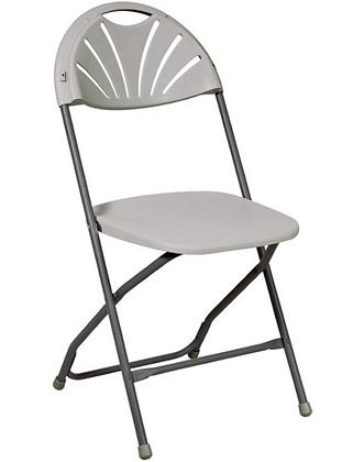 Folding Chair, Light Grey