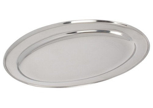 "Serving Tray, Silver Oval 20"", $5.00 each"