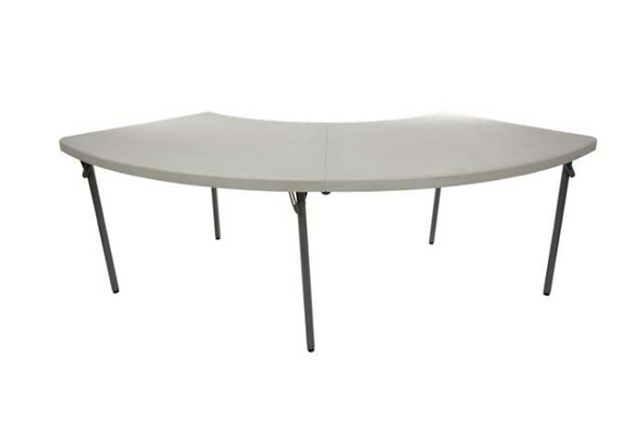 "Table, Serpentine Plastic (60""x30"") $13.75"