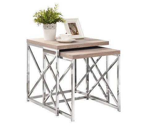 Nesting Table, Natural &Chrome, $42.40 per set
