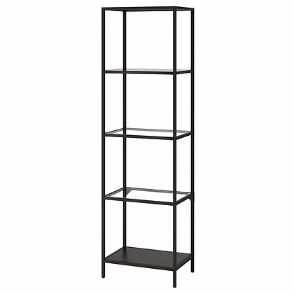 Shelf Unit, Black/Glass, $20.00 each