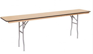 "Table, 8' Rectangle Wood (24""x 96""), $14.50 each"