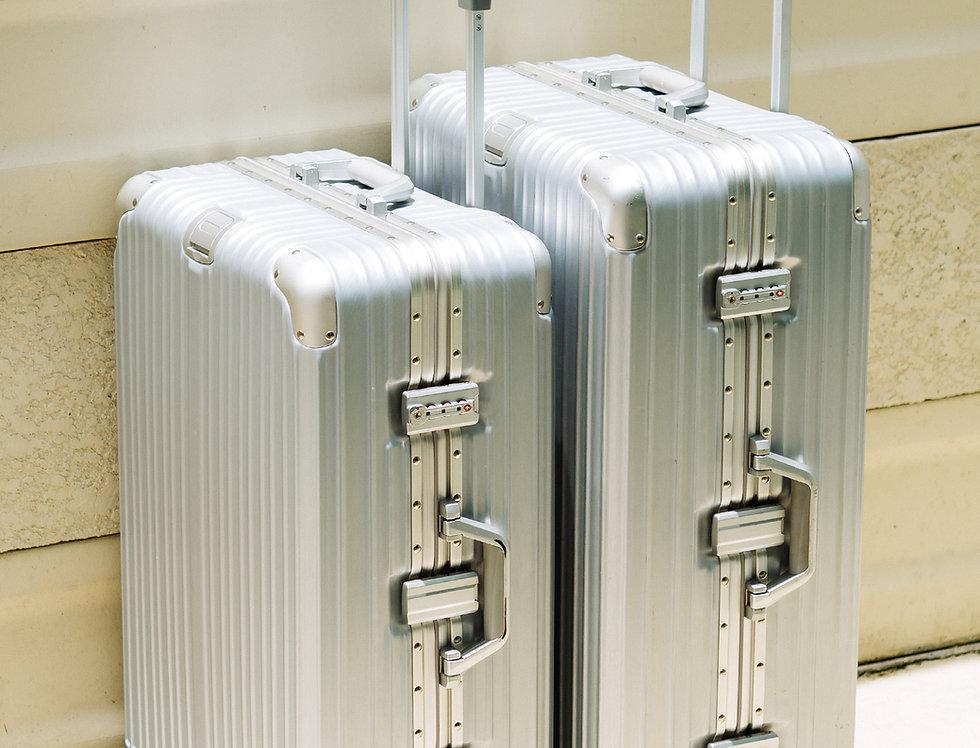 เช่ากระเป๋าเดินทาง รุ่น Tourist 26 นิ้ว สีเงิน
