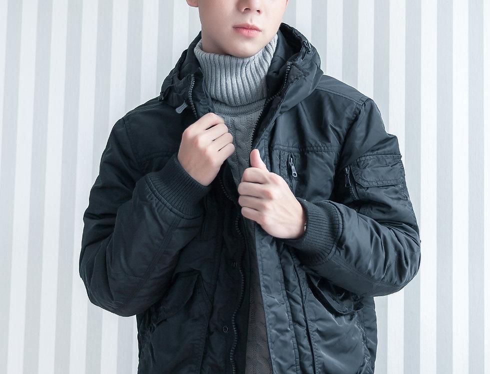 เช่าเสื้อกันหนาว ผู้ชาย DJS006BK