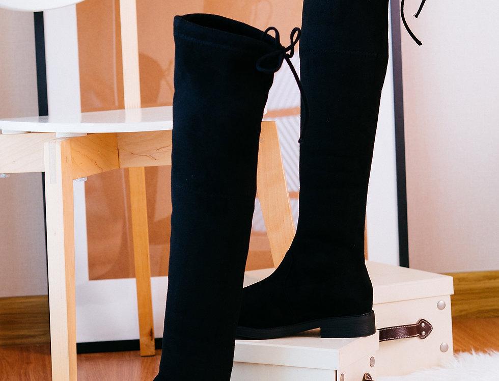 เช่ารองเท้าบูทยาวส้นเตี้ย ผ้ากำมะหยี หญิง รุ่น SYDNEY (SL2) | SHAAJBK