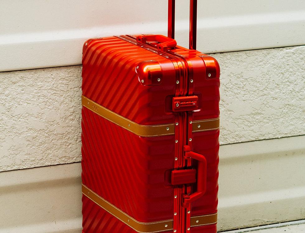 เช่ากระเป๋าเดินทาง รุ่น Retro 26 นิ้ว สีแดง