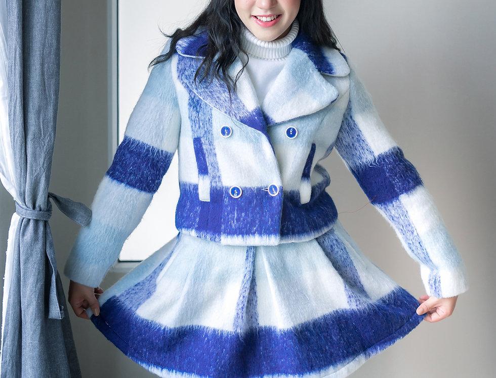 เช่าชุดกันหนาว (เสื้อ+กระโปรง) WCSS001BL