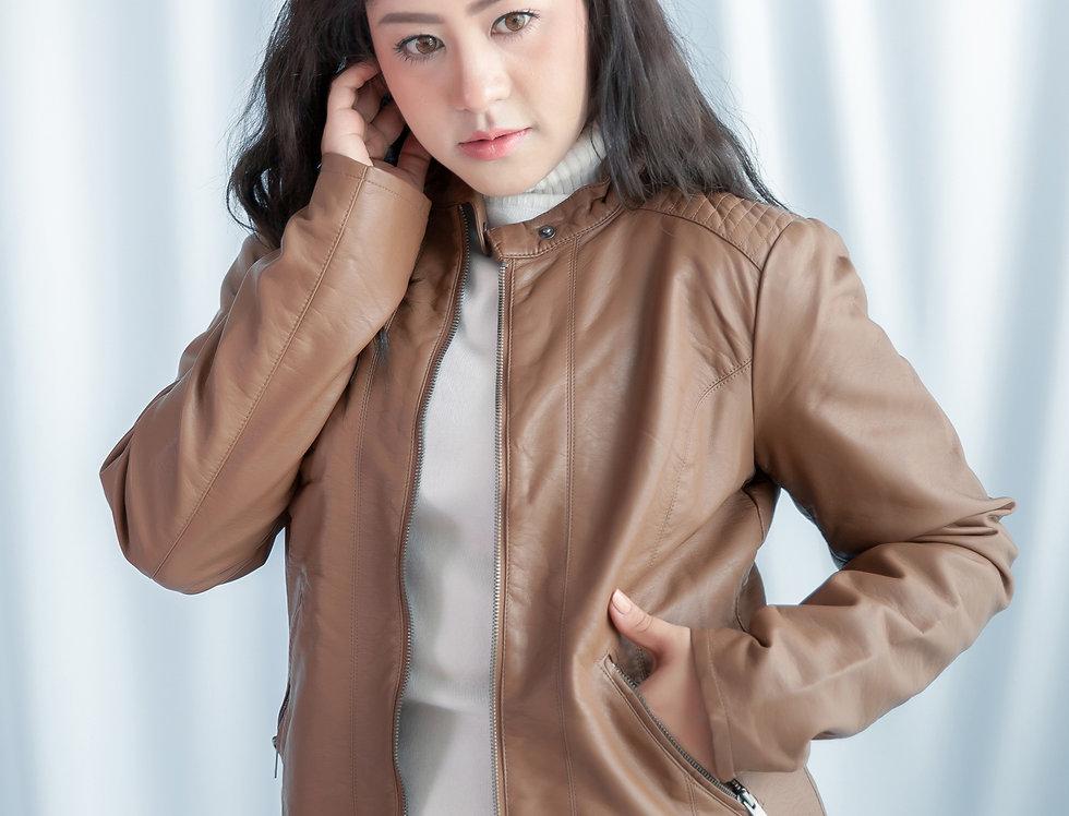 เช่าเสื้อหนังกันหนาว LJS003BW