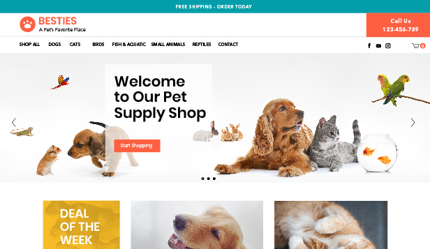 Tiere & Haustiere website templates – Pet Supplies Store