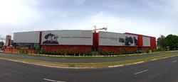 facade textile cinema avec impression