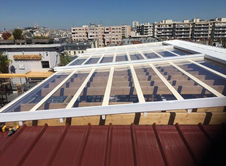 Couverture de terrasse pour le roof top du Perchoir à Paris