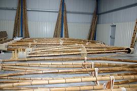 bambou pour la création de structures de chapiteaux