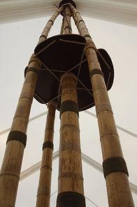 bambou pour les structures de chapiteaux