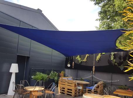 ABRIVOILE® sur mesure pour terrasse de restaurant