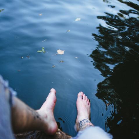 Entspannen Sie am Ufer des Sees